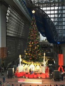Christmas tree in Kyoto station