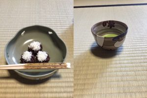 snow & radish tea bowl