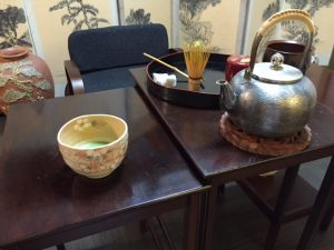 tea ceremony on the table
