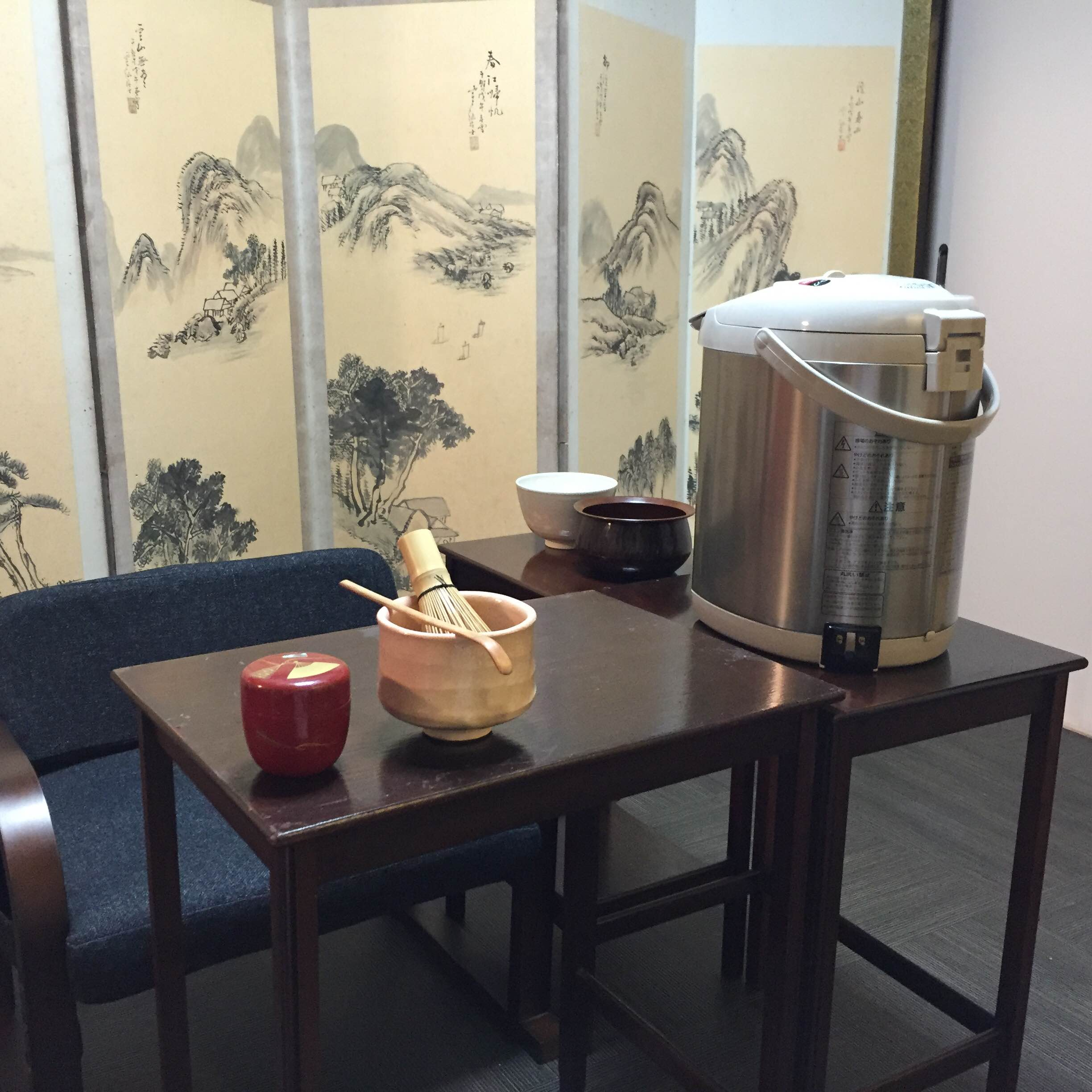 Japanese Tea Ceremony in table and chair style