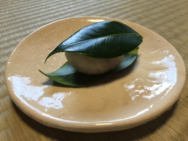 Japanese sweets for the early spring; Tsubaki rice cake