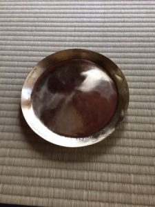 brass plate for Japanese tea ceremony