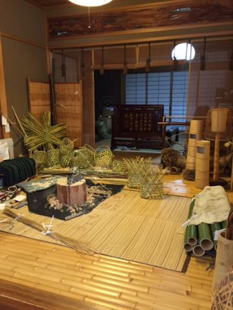 Japanese interior design made of Bamboo