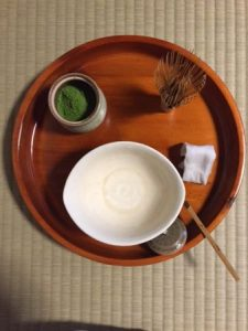 Casual tea ceremony at home