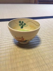 Japanese tea bowl for star festival