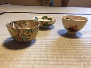 Japanese tea bowls for star festival