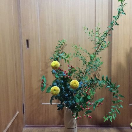 Japanese flower arrangement which makes your room beautiful.