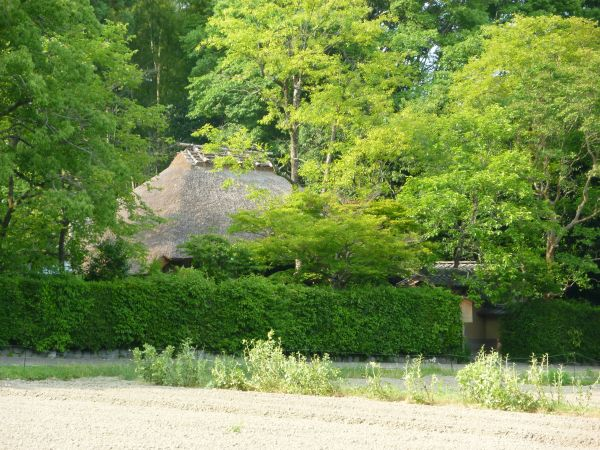 The old Japanese house a poet had lived in Sagano Kyoto