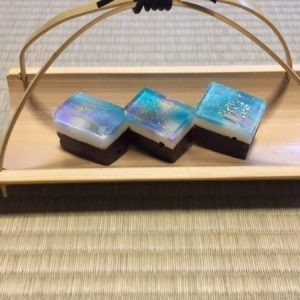 "Japanese sweets for tea ceremony ""milky way"""