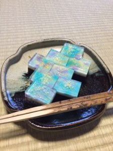 "Japanese sweets ""milky way"" for tea ceremony"