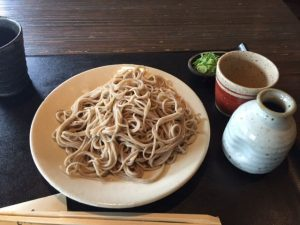 Japanese soba lunch in Kyoto