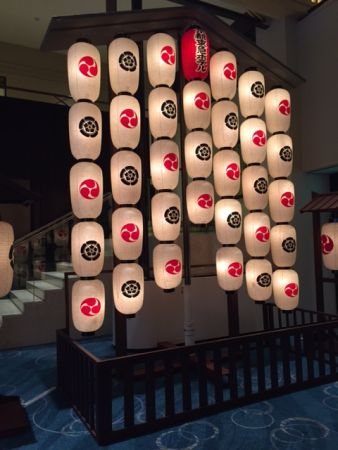 The symbol crests for Gion festival in Kyoto