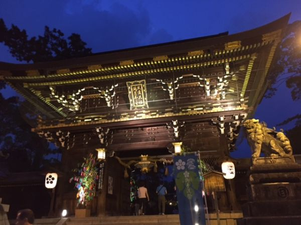 Night walk in Kitanotenmangu shrine in Kyoto. Special Event till August 14th.