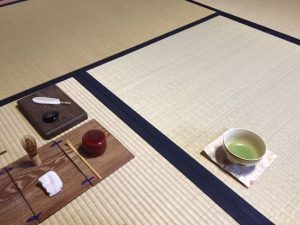 tea ceremony for full moon day in Kyoto