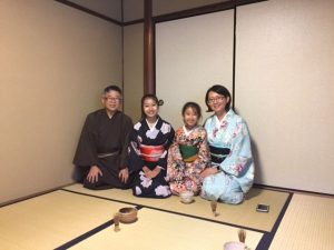 The Special Tea Ceremony at night with Japanese light meal.
