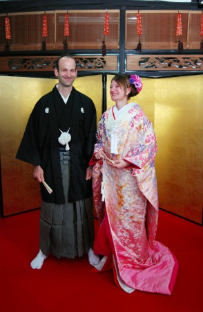 Private Anniversary Tea Ceremony & Wearing luxurious Silk Kimono