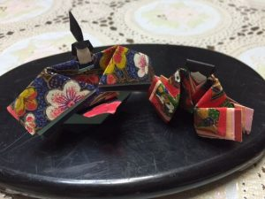 hina dolls made of origami paper