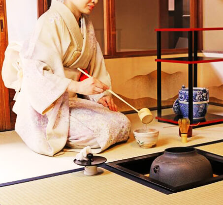 What's Authentic tea ceremony?- same as temples and shrines.