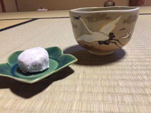 長五郎餅と日の出鶴