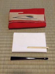 belongings for tea ceremony
