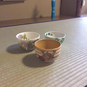 Tea bowls for May