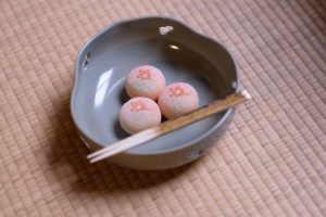 Japanese sweets for tea ceremony