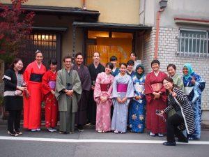 tea ceremony and kimono in KOTO