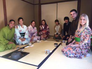 tea ceremony wearing Kimono