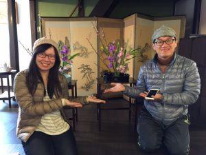 Ikebana lesson in Kyoto