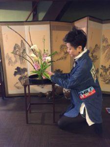 English Ikebana lesson