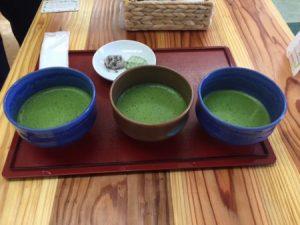 3 kinds of matcha tea
