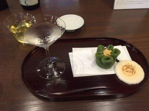 Japanese sake and sweets