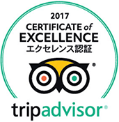 Certificate of Excellence of trip advisor